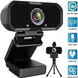 Webcam 1080p HD Computer Camera - Microphone Laptop USB PC Webcam, HD Full Gaming Computer Camera, Recording Pro Video Web Ca