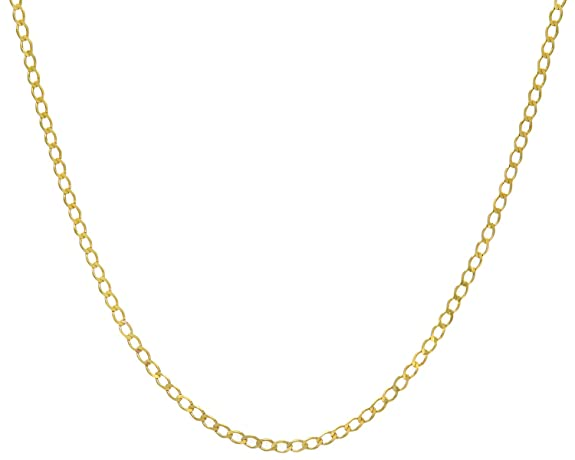 Citerna Women's 9ct Yellow Gold Curb Chain Necklace - 2.3mm width 3BFlYyf