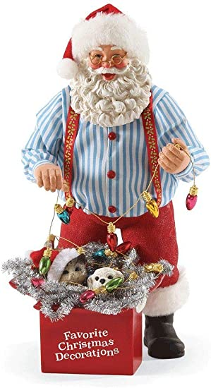 Department 56 Possible Dreams Santa Claus Favorite Decorations Clothtique Figurine, 10