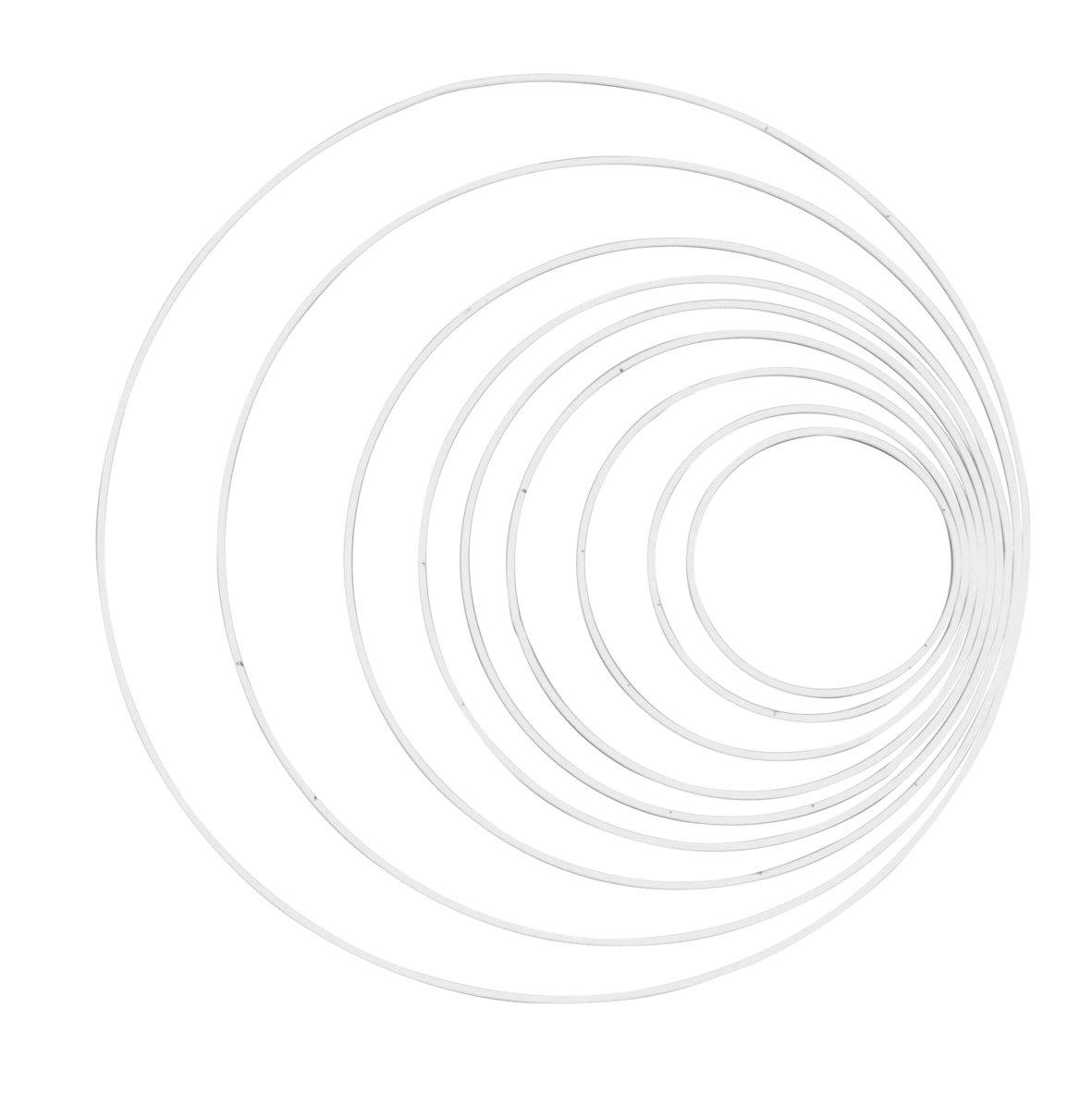 Glorex Metallring 20 cm Metall Wei/ß
