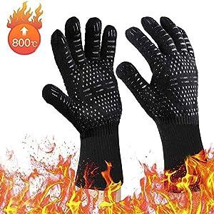 Rugum Guanti da Barbecue, Guanti da Forno con Resistenza al Calore Fino a 800 °C 1 Paio Guanti da Cucina con Protezione… 1 spesavip