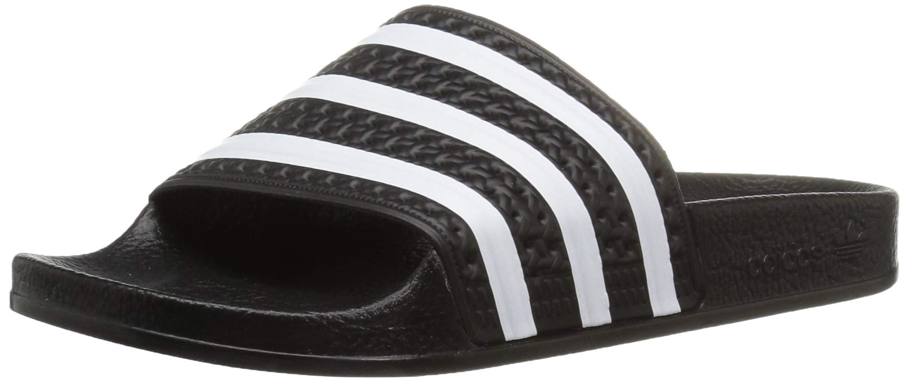 adidas Originals Unisex Adilette Sandal, White/Black, 6 M US Big Kid