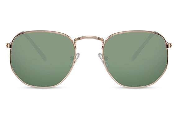 Cheapass Gafas de Sol Gafas Hexagonales Espejadas y Cristalse Normales Hombre Mujer Protección UV400