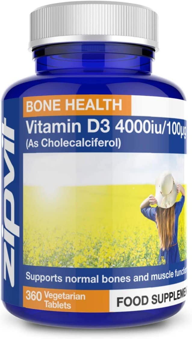 Vitamin D 4000iu 360 Micro Tablets. Vegetarian Society Approved. 12 Months Supply. Vitamin D3 Supports Bone Health and Your Immune System: Amazon.co.uk: Health & Personal Care