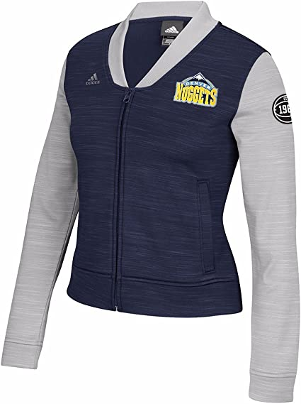 adidas Denver Nuggets NBA Bleu Marine on Court Full Zip