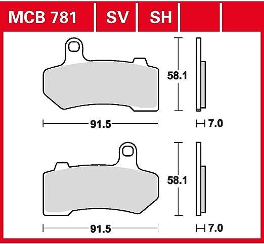 Bremsbelag TRW Sinter Street Hochleistungsbelag VRSCDX Night Rod Special ABS 08-14 hinten