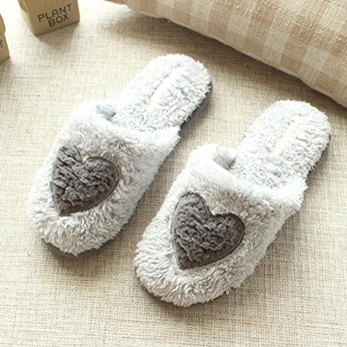 Chaud Chaussures Peluche Cadeau Gris Blanc Femmes Doublure 38 36 Coton Maison 39m dérapant Hiver Femme Anti Caolator 37s Adulte Confortable Chaussons Épaisse qX6xEp4