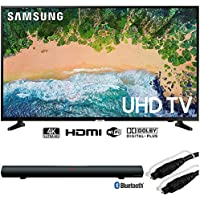 Samsung UN65NU6900 65 NU6900 Smart 4K UHD TV (2018) w/Sound Bar Bundle Includes, Sharper Image 37 Sound Bar Bluetooth Speaker w/Optical Input and Monoprice 6ft Optical Toslink 5.0mm OD Audio Cable