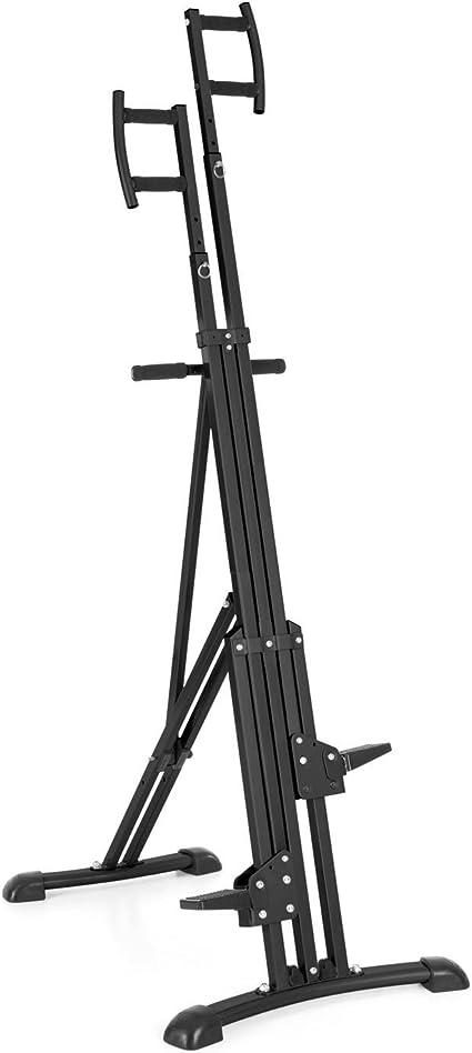 CAPITAL SPORTS Climbhigh Climbing Machine Máquina de escalada de montaña vertical (altura regulable, entrenamiento en casa) - negro