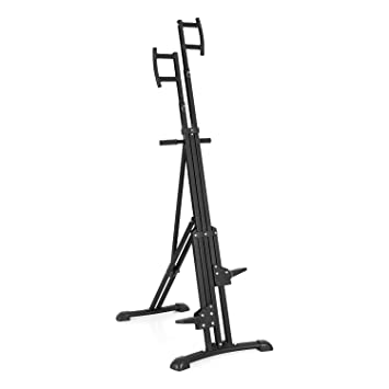 CAPITAL SPORTS Climbhigh Climbing Machine Máquina de escalada de montaña vertical (altura regulable, entrenamiento en casa) - negro
