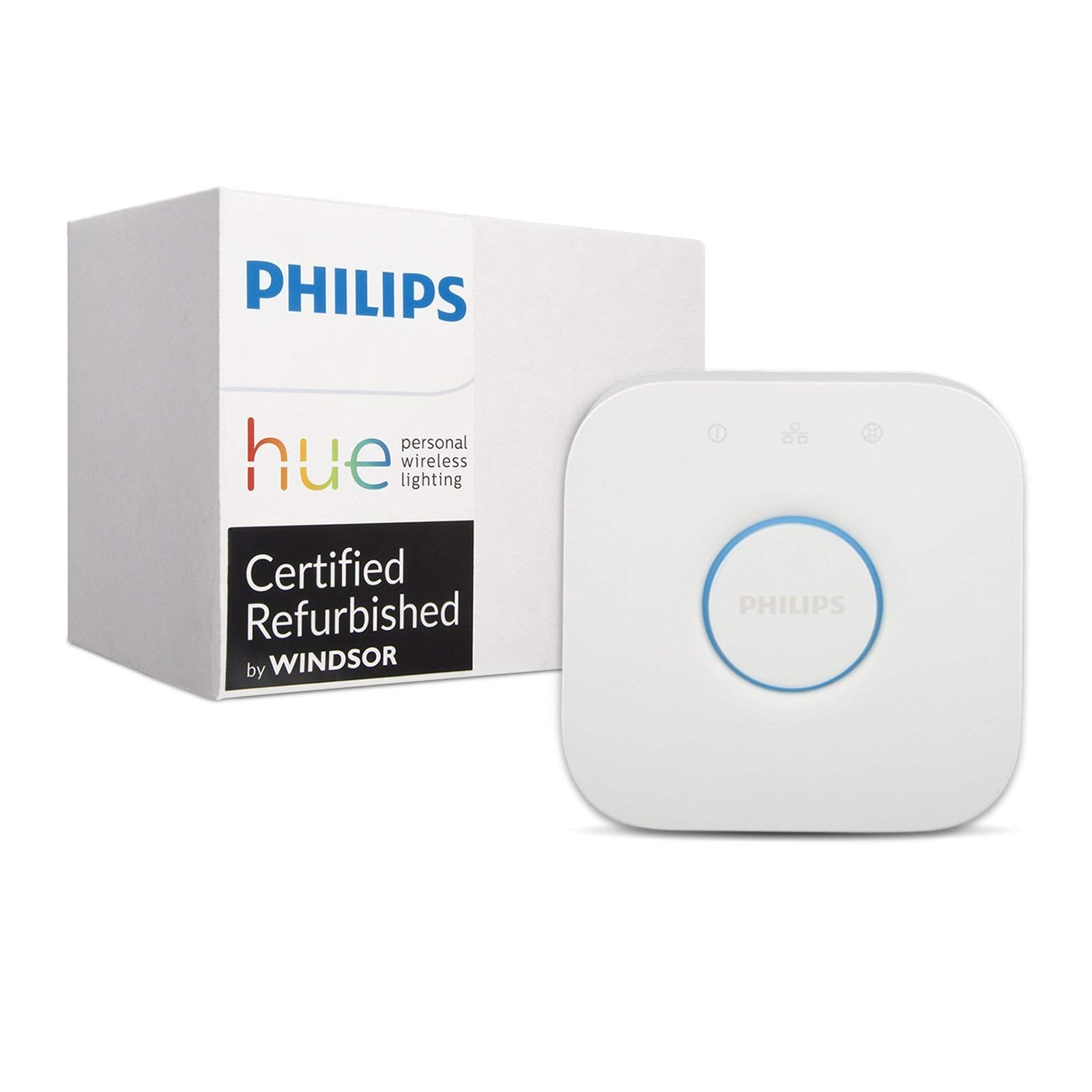 Philips Hue Smart Bridge - 2nd Generation, Latest Model - Compatible with Alexa, Apple HomeKit and Google Assistant (Renewed) by PHILIPS