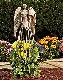 Garden Metal Angel Trellis – Antique Patina 25.5in Height