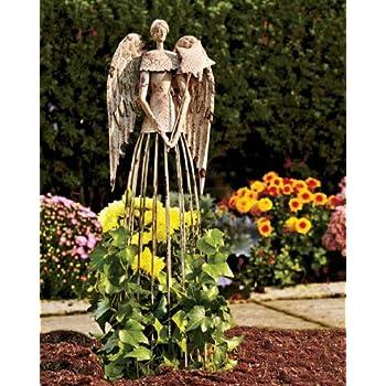 Super Amazon.com : Garden Metal Angel Trellis - Antique Patina 25.5in  PH22