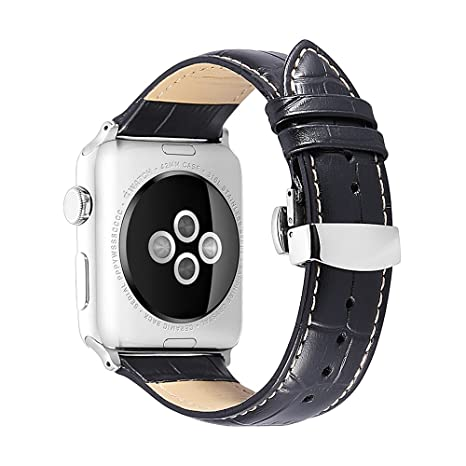 Cocodrilo en relieve grano iStrap ganga reloj ajuste Apple iWatch todo el modelo relojes