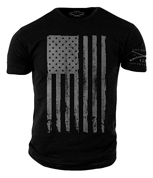 Grunt Style America Mens T Shirt Small Black