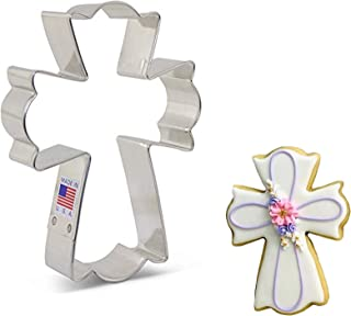"""product image for Ann Clark Cookie Cutters Large Fancy Cross Cookie Cutter by Flour Box Bakery, 4.5"""""""