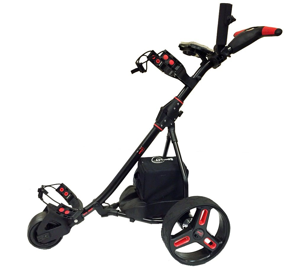 Easy Trek Sport- Remote Caddy Electric Cart Black/Red