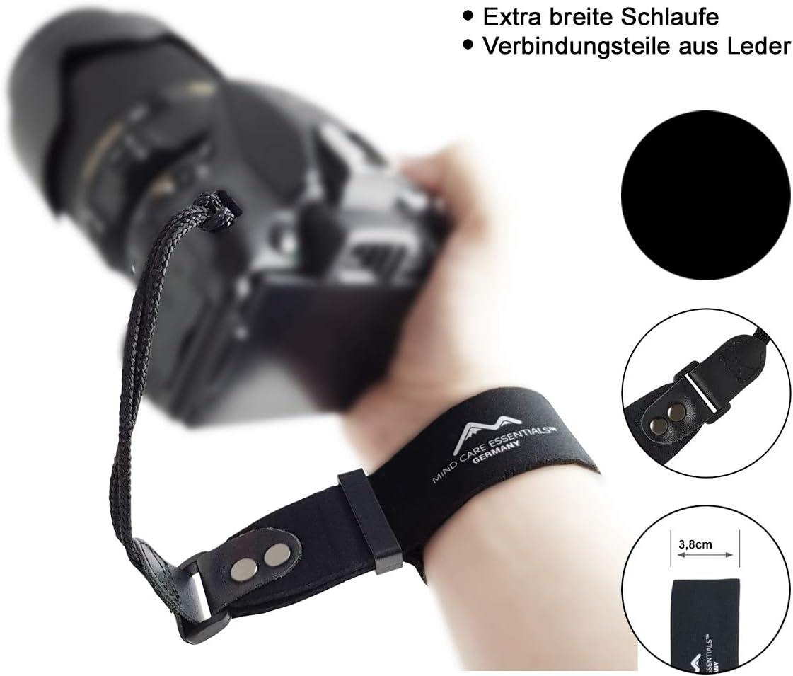 Neopren Kamera Handschlaufe Extra Breit Schwarz Kamera