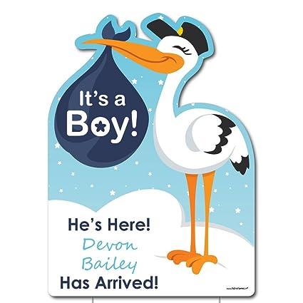 Amazon.com: Custom Boy entrega especial – Señal de bebé ...