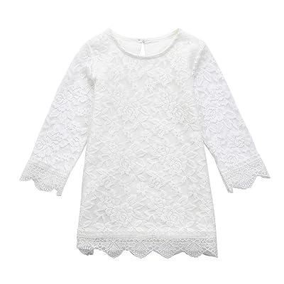 2018 Printemps Été Robe Bébé Fille Princesse Longra Manche longue Robe en Dentelle Bébé Fille Mi saison Robe de baptême Habits Bébé Robe Bébé Fille M