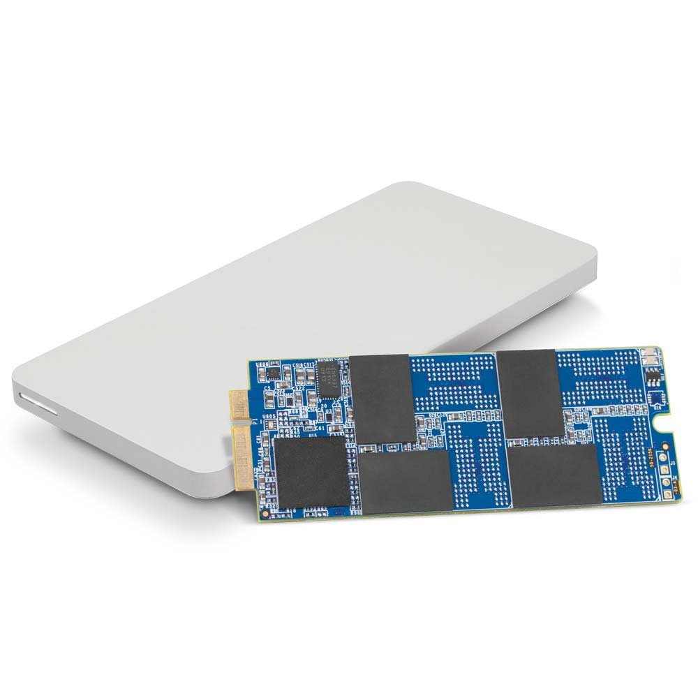 OWC 240GB Aura Pro 6G SSD and Envoy Pro Upgrade Kit for 2012-2013 MacBook Pro with Retina display.