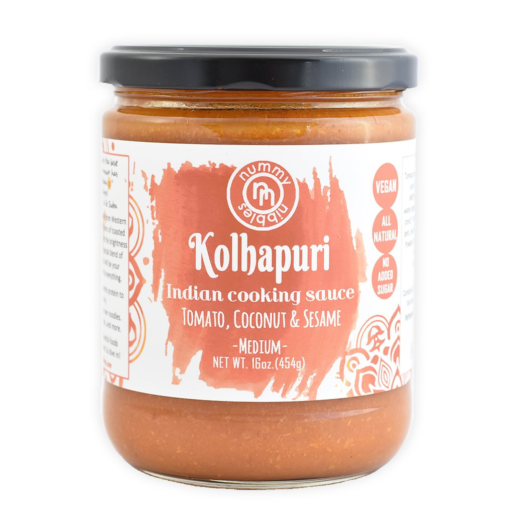 Nummy Nibbles Kolhapuri Indian Cooking Sauce|Whole30 Approved, Vegan,No Added Sugar,Non GMO,Keto Friendly,Dairy Free