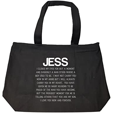 Amazoncom Jess Love You Forever Proud My Son Is A Man Gift Tote
