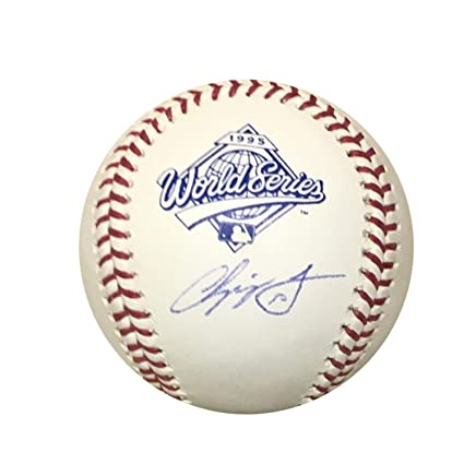 9a914524b12 Image Unavailable. Image not available for. Color  Chipper Jones Atlanta  Braves Autographed 1995 World Series Signed Baseball JSA COA With UV  Display Case