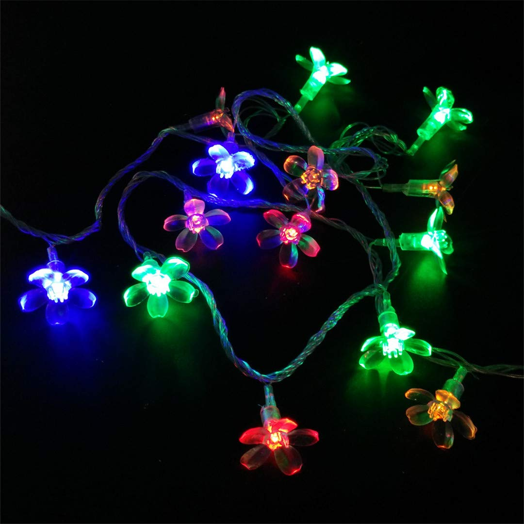 BGFHDSD 5M 50 LED Cherry Blossom Fairy String Light Sakura Flower Battery Operated Christmas Xmas Wedding Party Decoration Lights Purple by BGFHDSD (Image #6)
