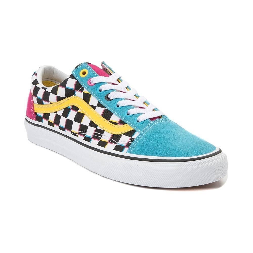 Vans Unisex Authentic Skate Shoe Sneaker (9 Women / 7.5 Men M US, Old Skool Chex Multi 7282) by Vans