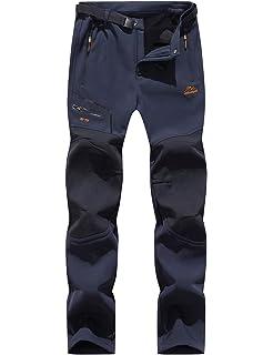 7VSTOHS Pantalones de Escalada de Senderismo para Hombre Pantalones de Invierno a Prueba de Viento Fleece Pantalones de esqu/í para Caminar