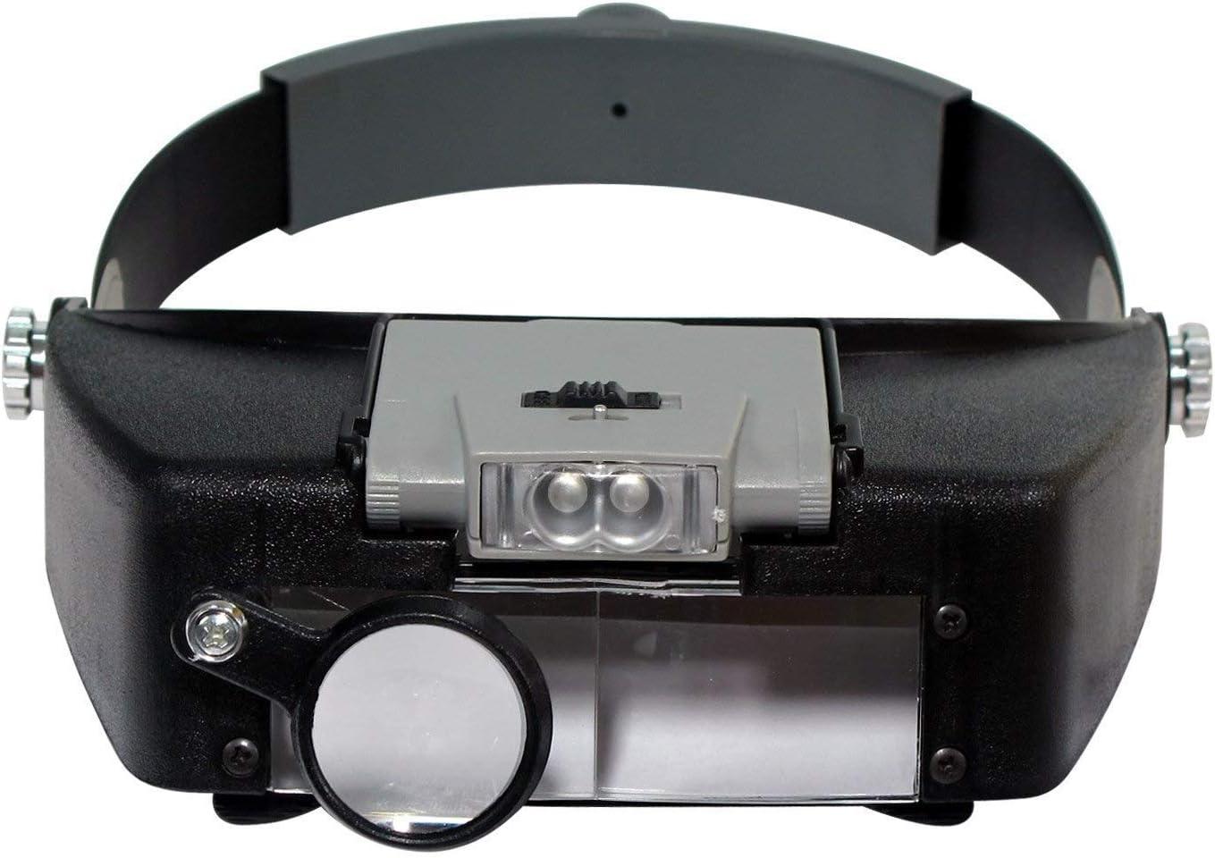 TTWUJIN Lupa HD HD HD Mantenimiento de cabeza Mantenimiento Lupa de lupa Alta Ampliación Gafas Gafas Vidrios Pestañas Belleza Belleza Pestañas Lupa de lupa con luz Ultra Luz Ayuda Lectura Portátil