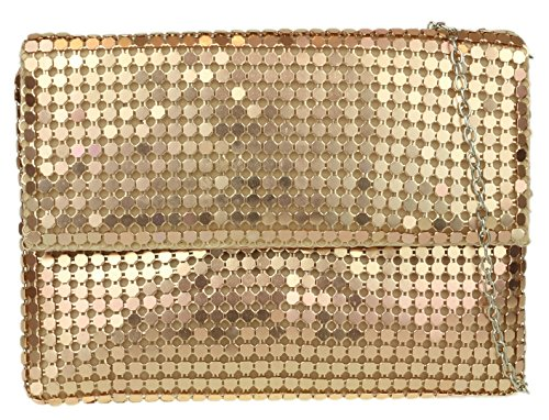 Bag HandBags Champagne Girly Clutch Chainmail xq7YFOwO