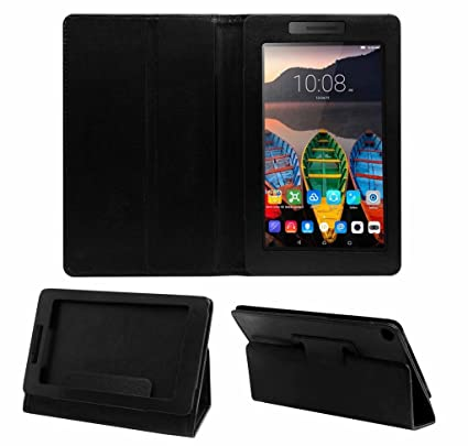 newest d3c1b 9fc6b Acm Executive Case for Lenovo Tab 3 7 Essential Tablet Front & Back Flip  Cover Stand Black