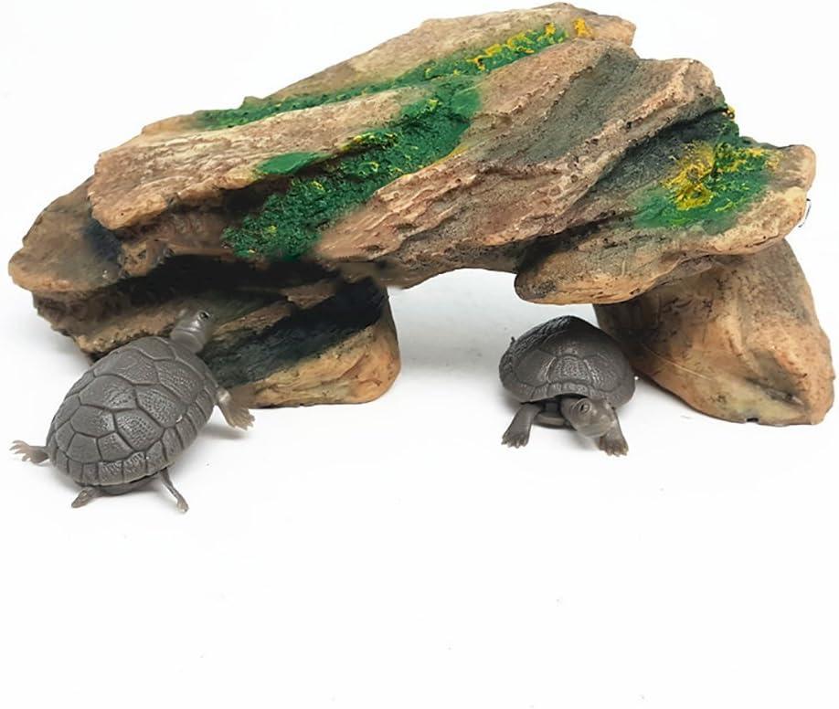 Plataforma de simulaci/ón para Acuario Reptil dragonaur Isla pecera Tortuga