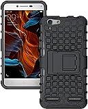 Starz Tough Hybrid Armor Back Cover Case with Kickstand Back Case Cover For Lenovo Vibe K5/Lenovo Vibe K5 Plus (Black)