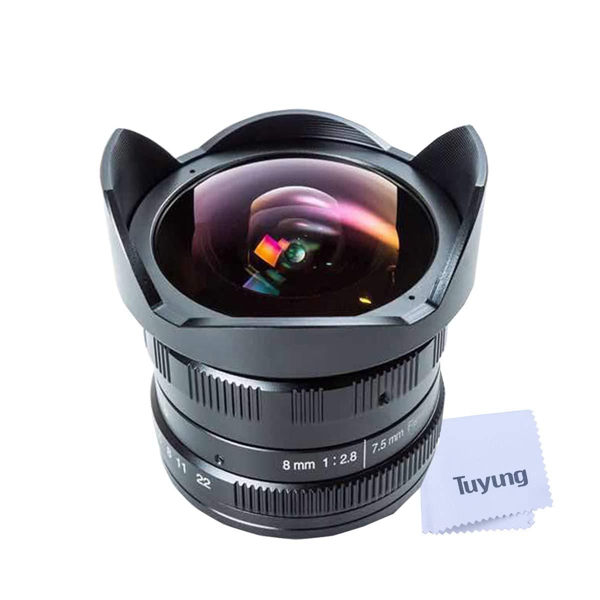 NEWYI 7.5mm f2.8 Manual Fisheye Lens Compatible for Panasonic Micro 4/3 Cameras G1 G5 G6 G7 GF1 GF2 GF5 GF6 GM1 GM5 GM10 GX7 GX8 GH1 GH3 GH4 and Olympus epm2 E-PL1 E-PL5 E-PL7 E-M1 E-M10 by TUYUNG
