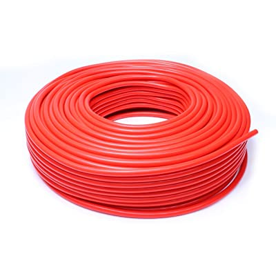 HPS HTSVH35-REDx10 Red 10' Length High Temperature Silicone Vacuum Tubing Hose (60 psi Maxium Pressure, 3.5mm ID): Automotive