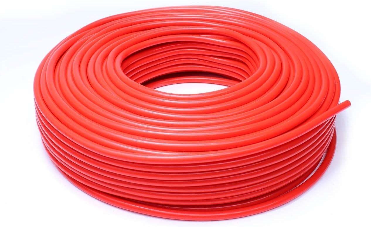 HPS HTSVH35-REDx10 Red 10' Length High Temperature Silicone Vacuum Tubing Hose (60 psi Maxium Pressure, 3.5mm ID): Automotive