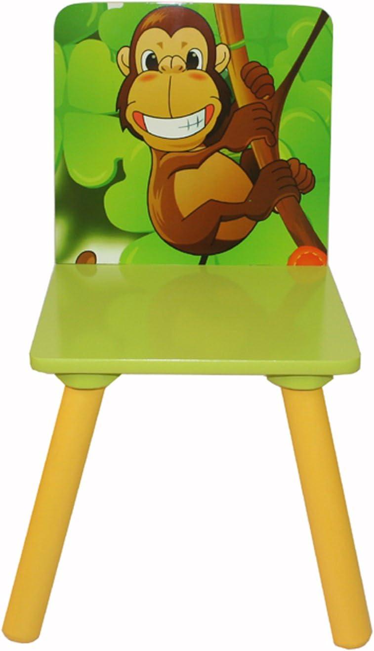 Homestyle4u Enfants Enfants Table chaises Enfants Meubles si/èges situ/é Jungle Vert