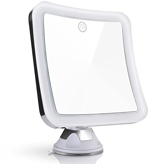 Sanheshun 10X Magnifying Lighted Travel Makeup Mirror