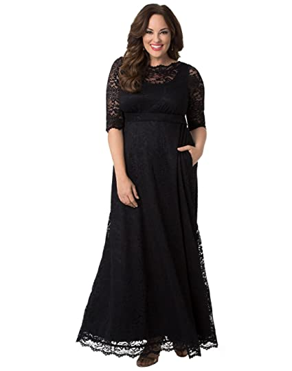 Kiyonna Women\'s Plus Size Leona Lace Gown