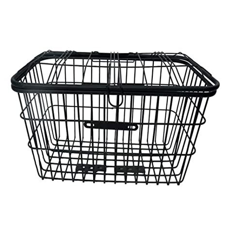 ASC Rear Black Mesh Wire Fixed Mounted Bike Bicycle Basket Carrier Rack