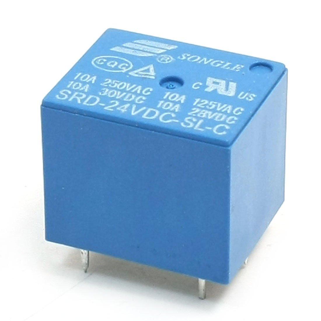 SRD-24VDC-SL-C DC 24V nominal de la bobina SPDT Miniature PCB azul Power Relay