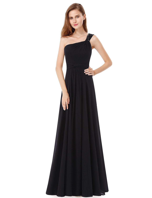 Ever Pretty One Shoulder Rhinestones Floor Length Evening Party Dress 08034
