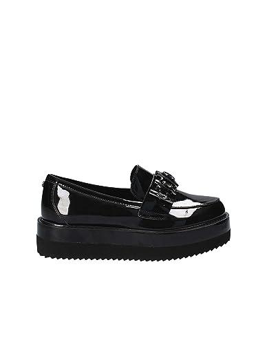 Guess Flmai3 Ele14 Mocasines Mujer Negro, Talla 35: Amazon.es: Zapatos y complementos