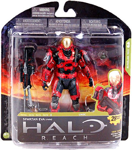 Halo Reach McFarlane Toys Series 4 Exclusive Action Figure TEAM RED Spartan E...