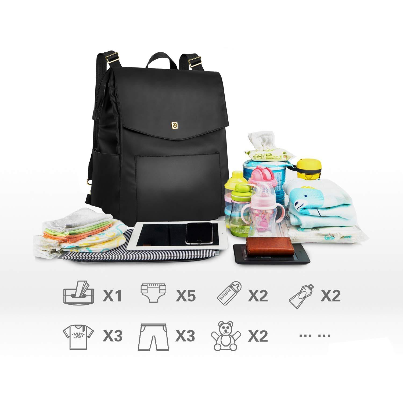 Amazon.com: allcamp bolsa de pañales, multifunción, gran ...