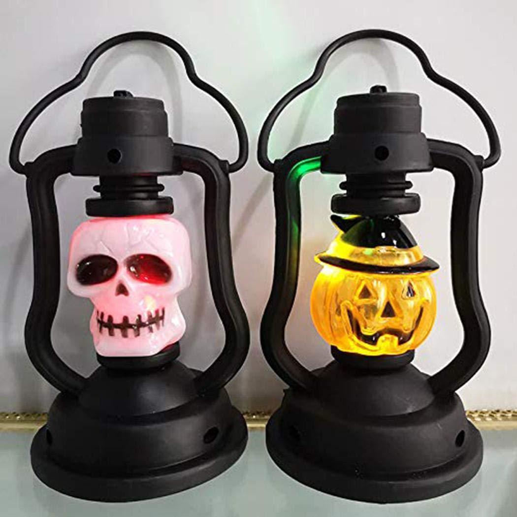 Tiowea Halloween Portable LED Night Light Colorful Kerosene Lamp Decorative Props Night Lights