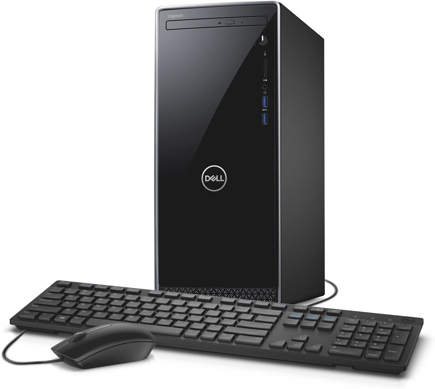 Dell Inspiron i3668 Desktop – 7th Gen Intel Dual Core i3-7100 Processor, 8GB DDR4 Memory, 256GB Solid State Drive 1TB SATA Hard Drive, Intel HD Graphics, DVD Burner, Windows 10
